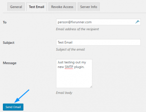 Testing your Gmail SMTP Plugin